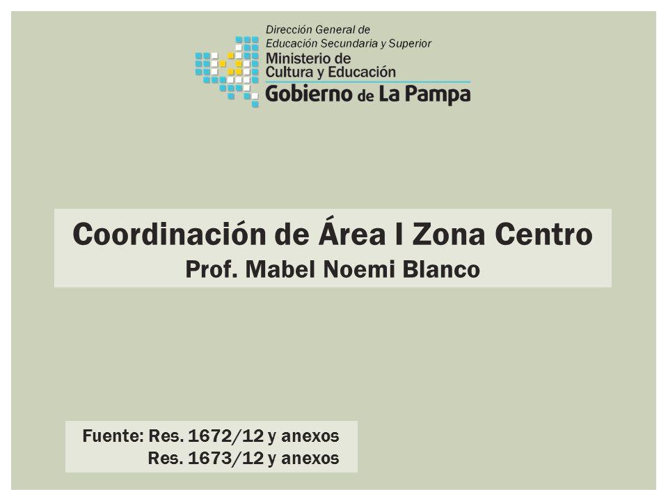 Coordinación de Área I Zona Centro