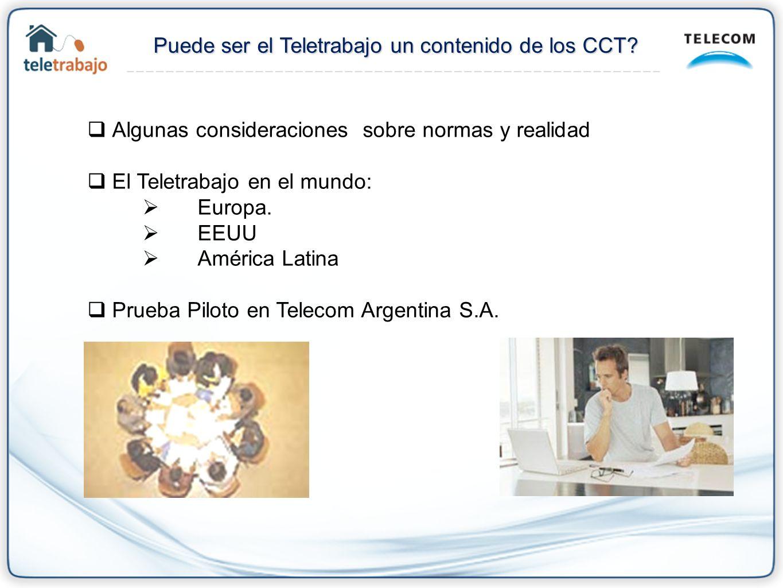 Puede ser el Teletrabajo un contenido de los CCT