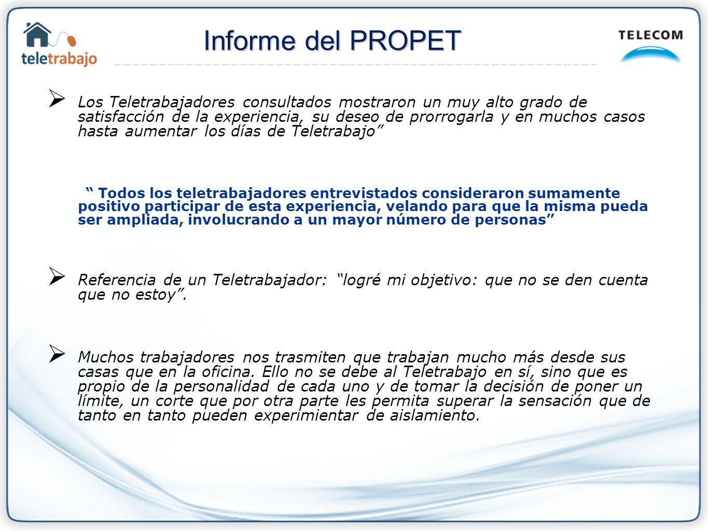 Informe del PROPET