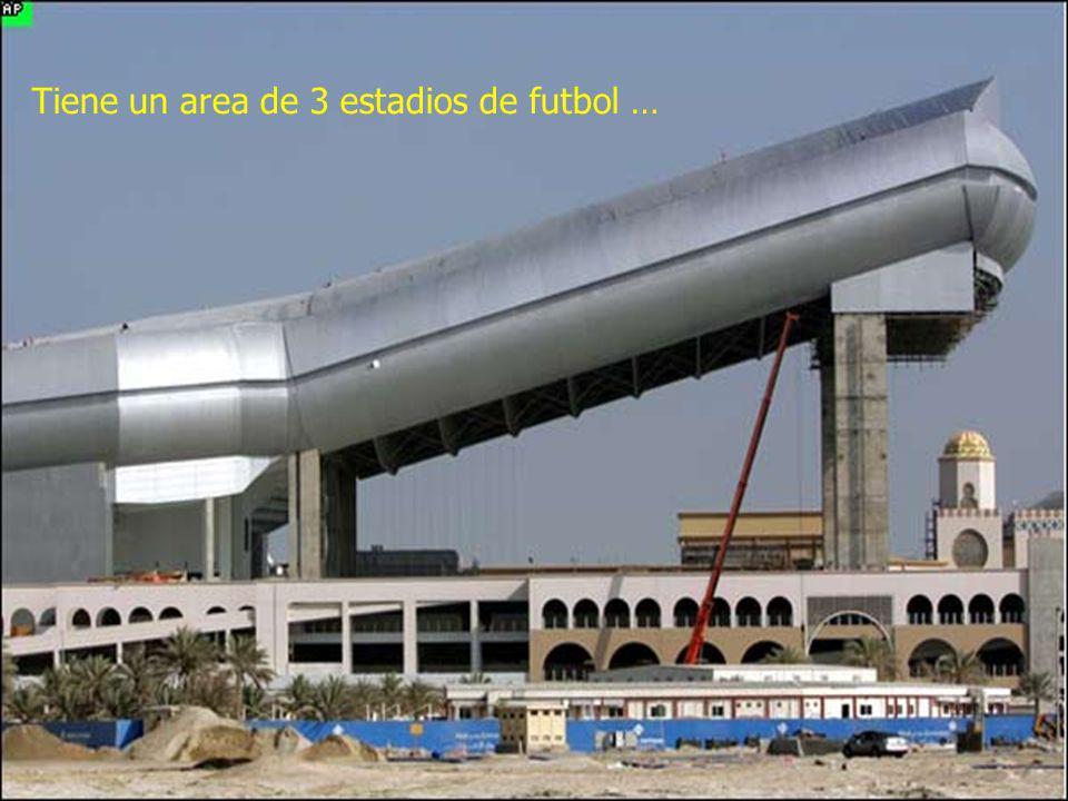 Tiene un area de 3 estadios de futbol …