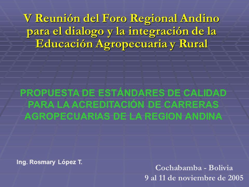 V Reunión del Foro Regional Andino para el dialogo y la integración de la Educación Agropecuaria y Rural