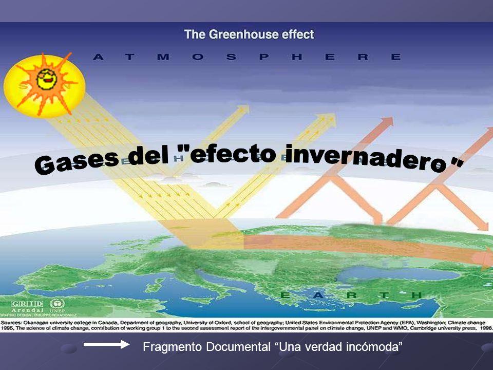 Gases del efecto invernadero