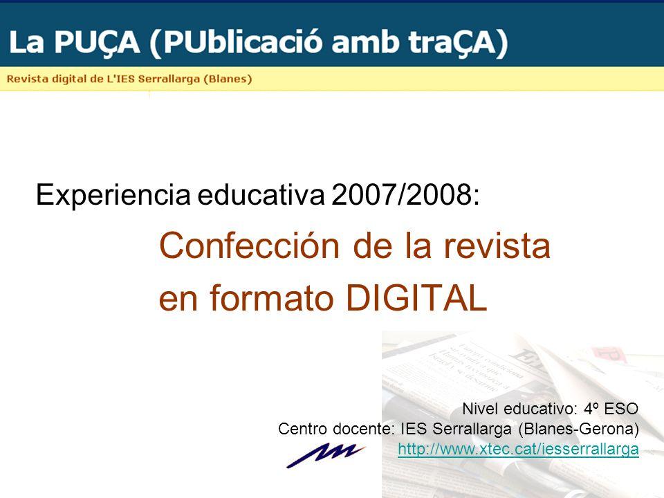 Experiencia educativa 2007/2008: Confección de la revista
