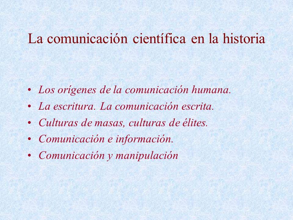 La comunicación científica en la historia