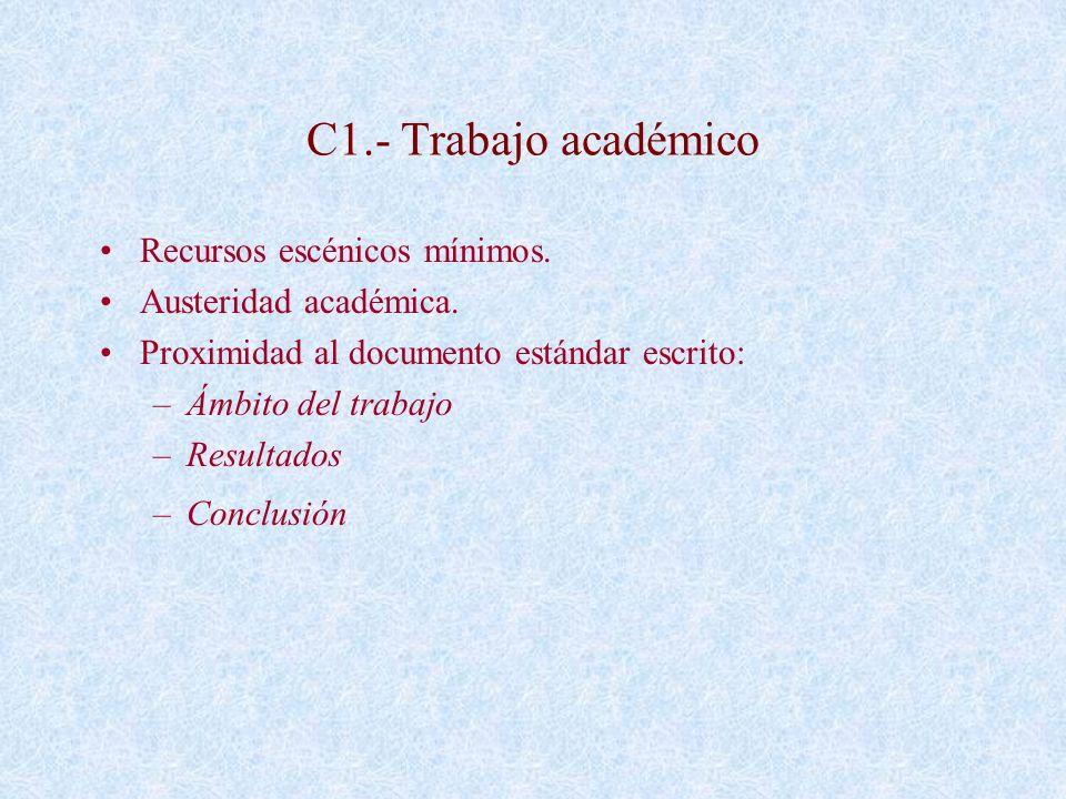 C1.- Trabajo académico Recursos escénicos mínimos.