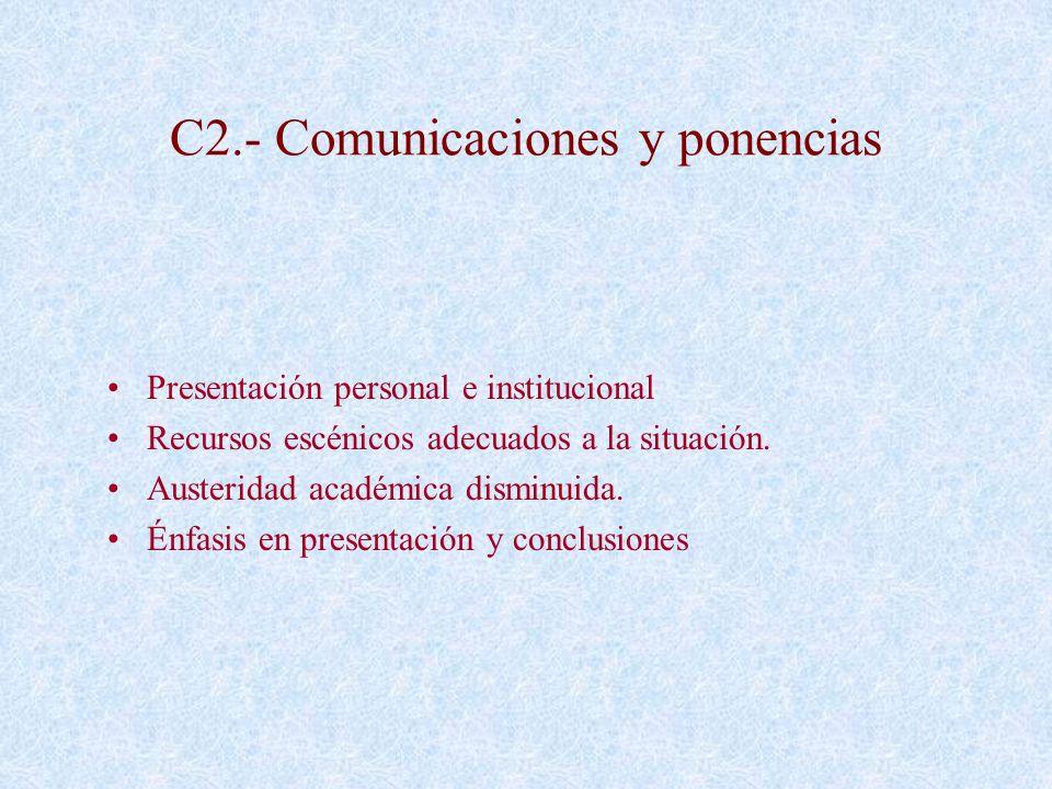 C2.- Comunicaciones y ponencias