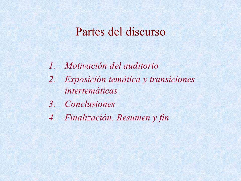 Partes del discurso Motivación del auditorio