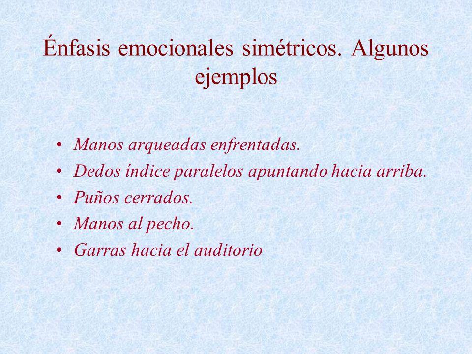 Énfasis emocionales simétricos. Algunos ejemplos