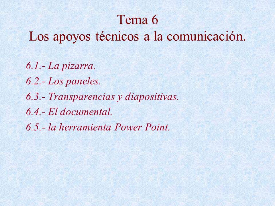 Tema 6 Los apoyos técnicos a la comunicación.