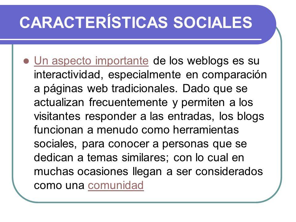 CARACTERÍSTICAS SOCIALES