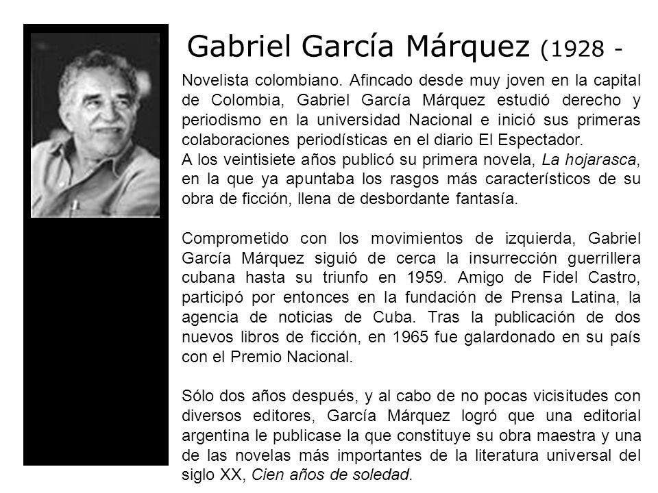 Gabriel García Márquez (1928 -