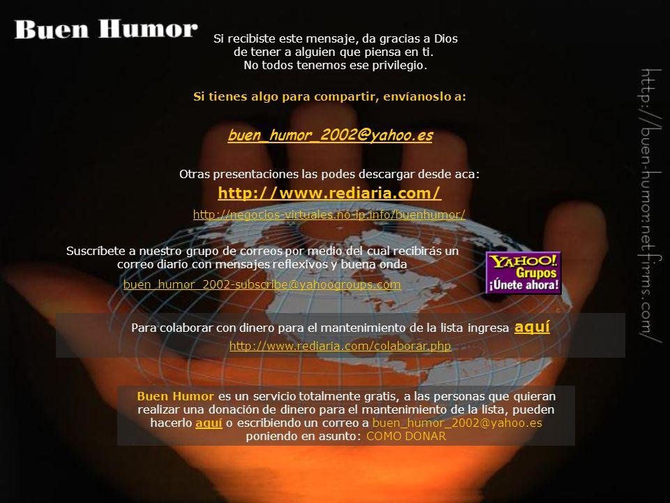 http://www.rediaria.com/ Si recibiste este mensaje, da gracias a Dios