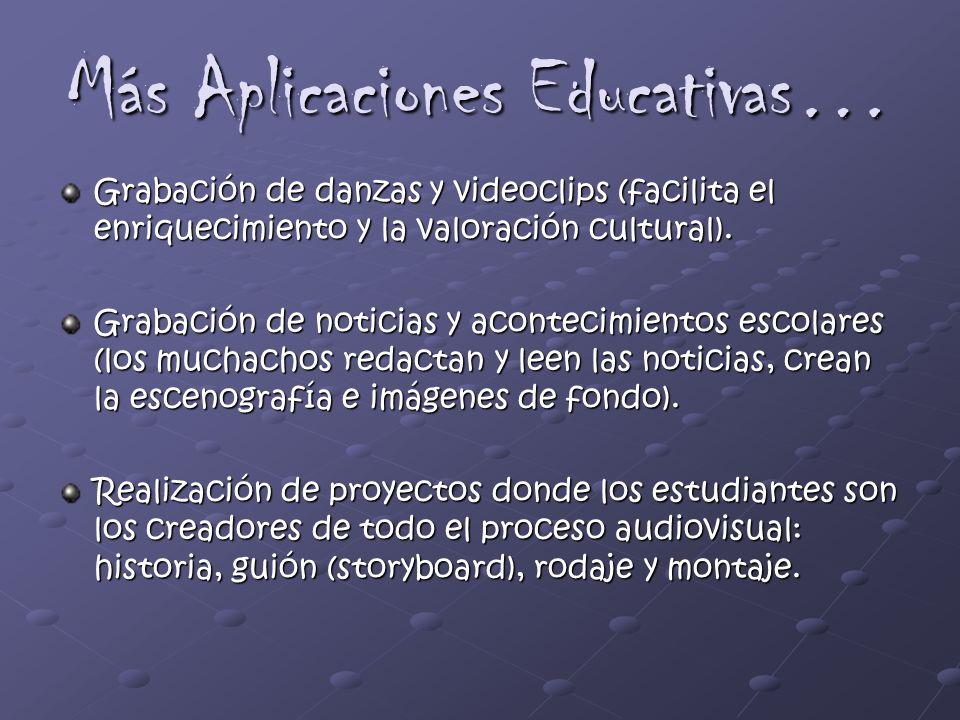 Más Aplicaciones Educativas…