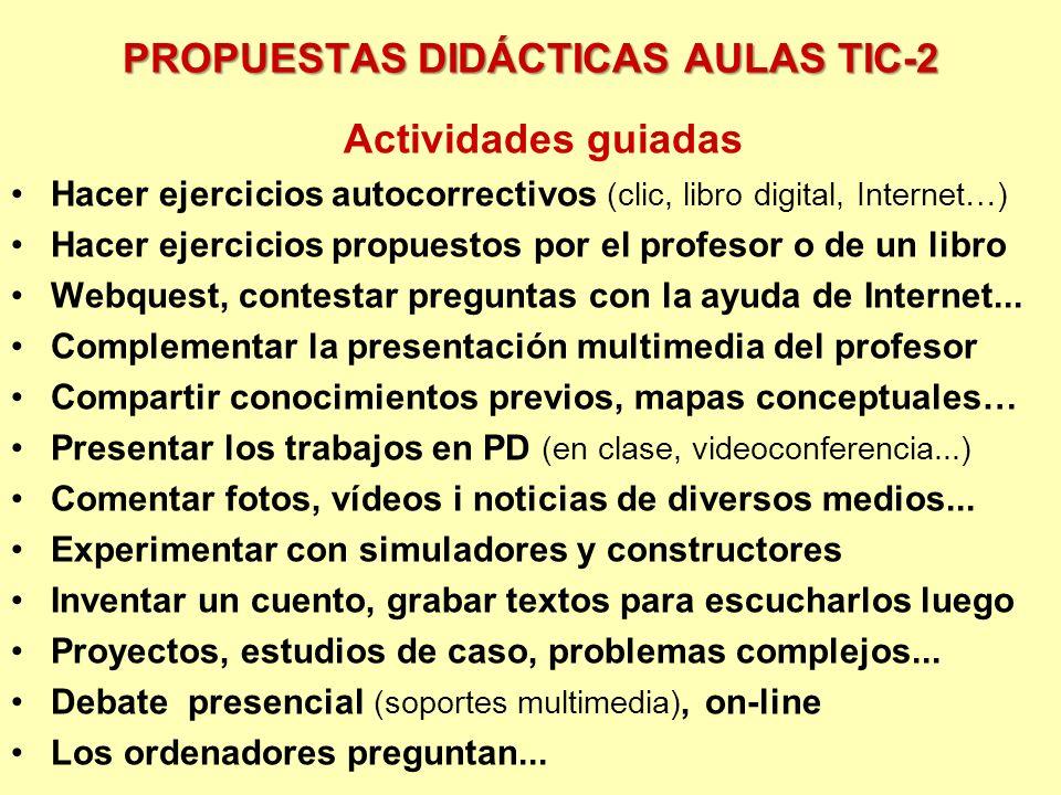 PROPUESTAS DIDÁCTICAS AULAS TIC-2