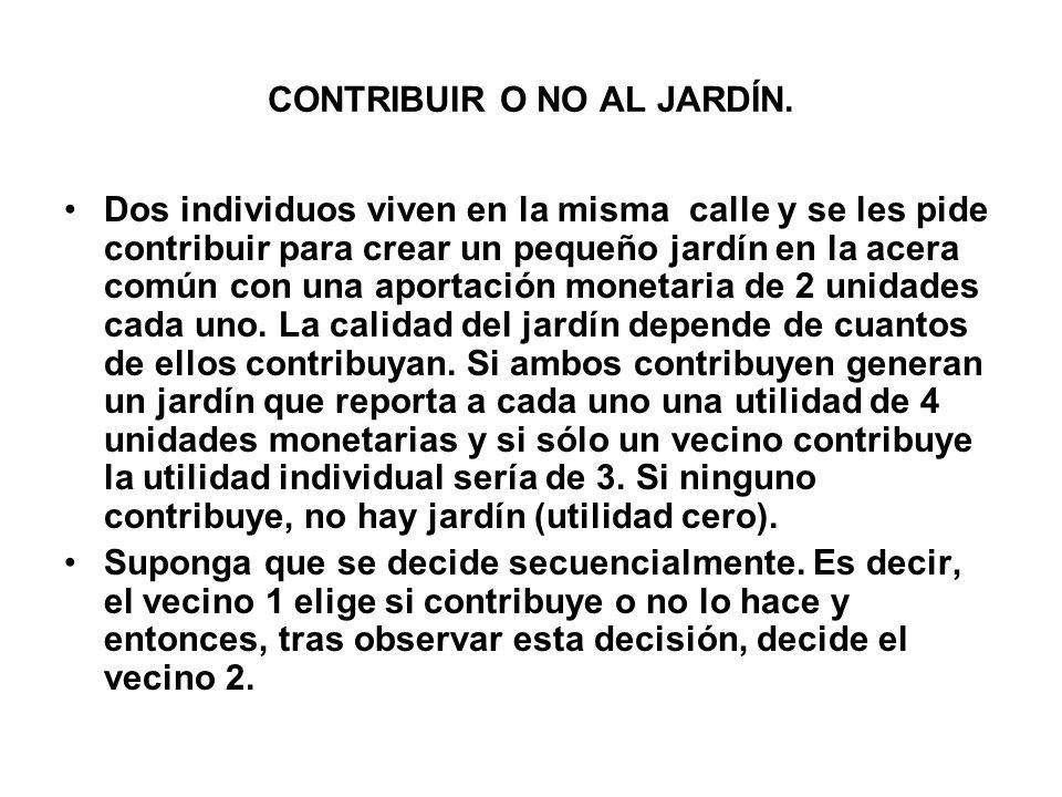CONTRIBUIR O NO AL JARDÍN.