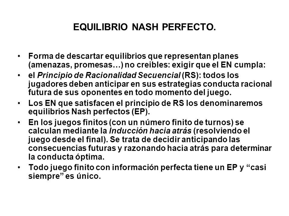 EQUILIBRIO NASH PERFECTO.