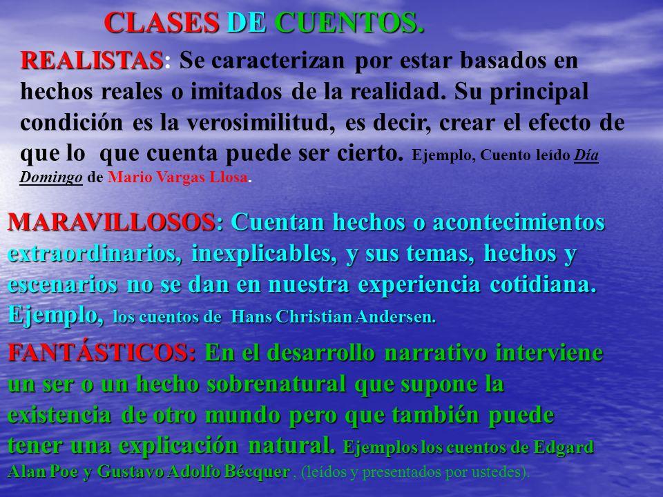 CLASES DE CUENTOS.