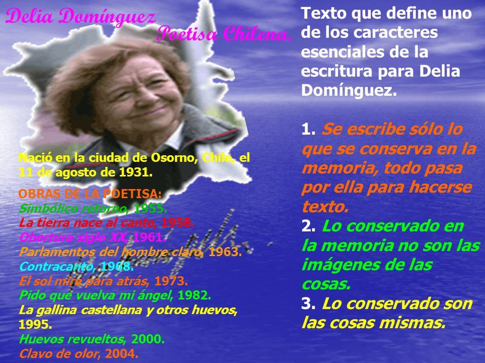 Delia Domínguez Poetisa Chilena.