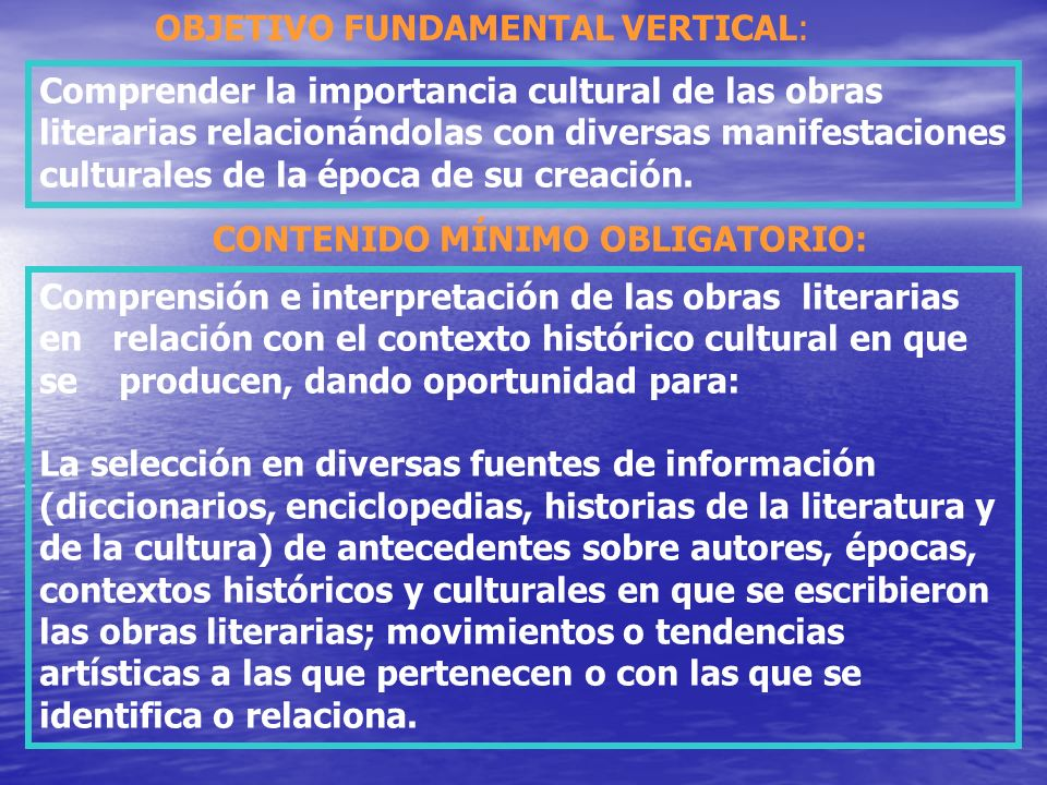 OBJETIVO FUNDAMENTAL VERTICAL: