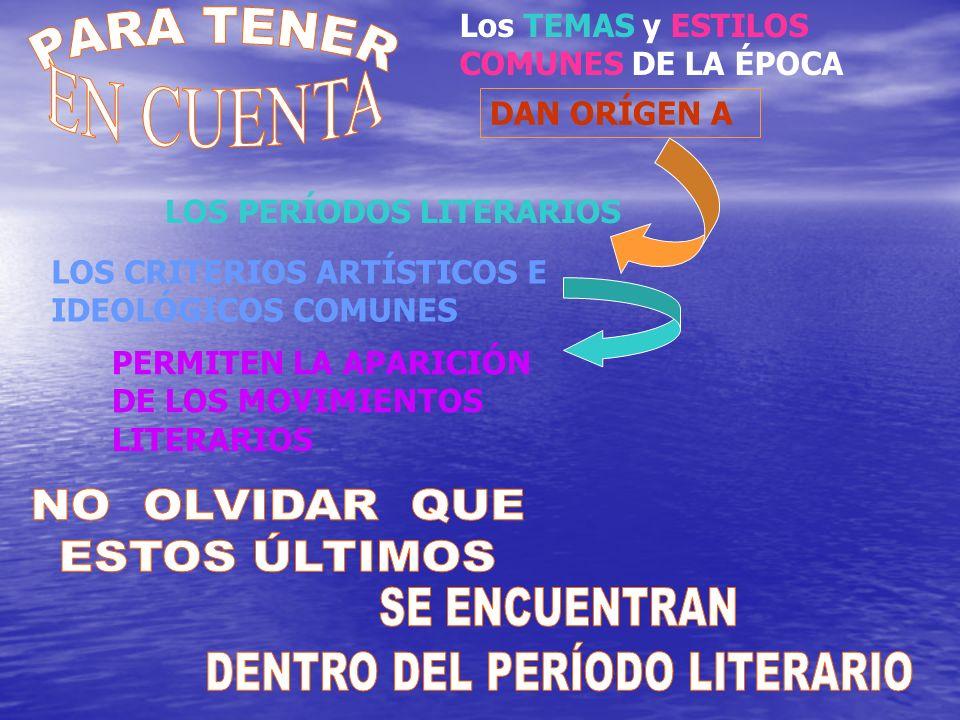 DENTRO DEL PERÍODO LITERARIO