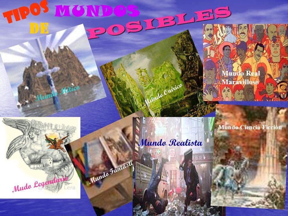 TIPOS MUNDOS DE Mundo Realista Mundo Mítico Mudo Legendario POSIBLES