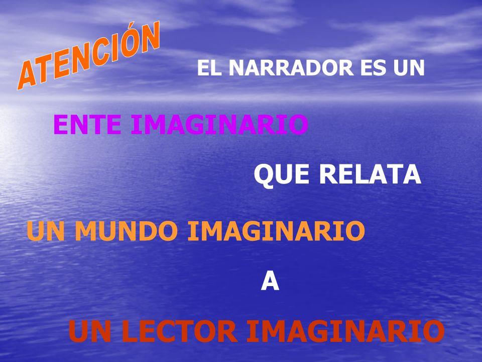 UN LECTOR IMAGINARIO ENTE IMAGINARIO QUE RELATA UN MUNDO IMAGINARIO A