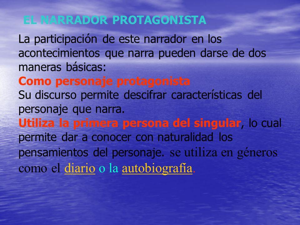 EL NARRADOR PROTAGONISTA