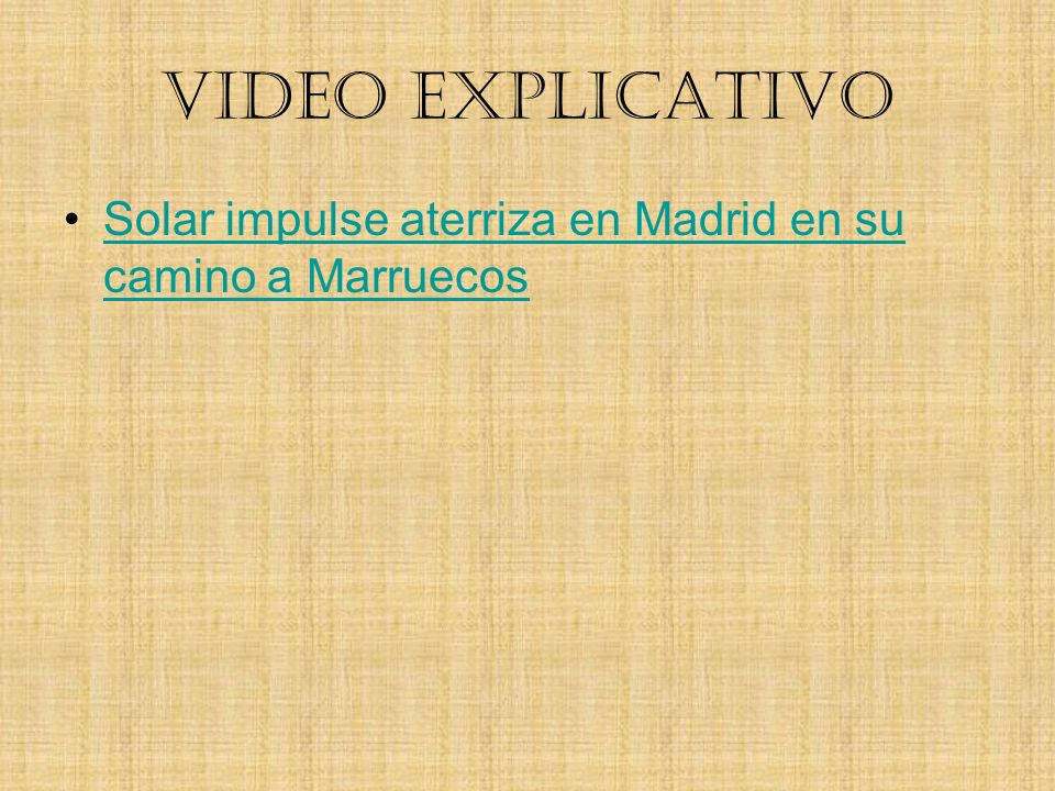 VIDEO EXPLICATIVO Solar impulse aterriza en Madrid en su camino a Marruecos