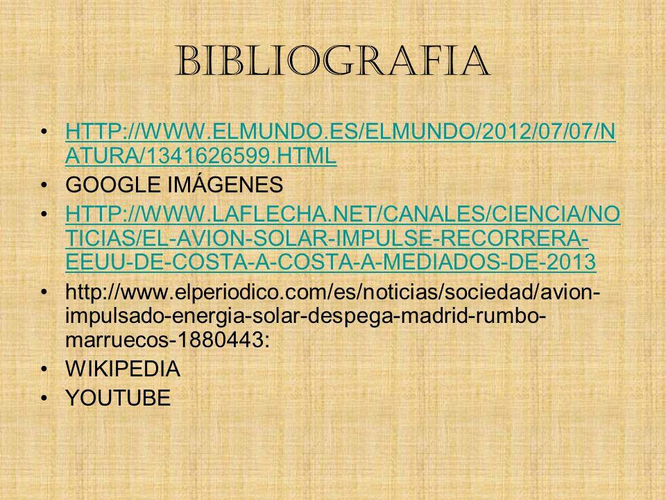BIBLIOGRAFIA HTTP://WWW.ELMUNDO.ES/ELMUNDO/2012/07/07/NATURA/1341626599.HTML. GOOGLE IMÁGENES.