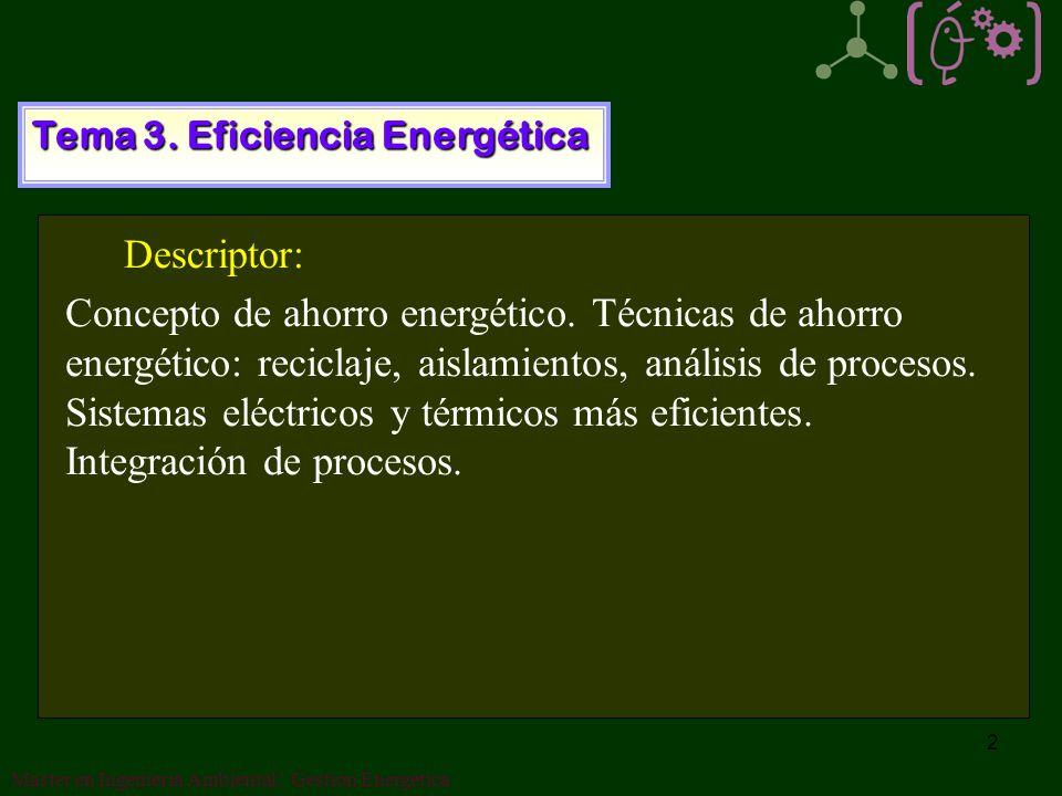 Tema 3. Eficiencia Energética