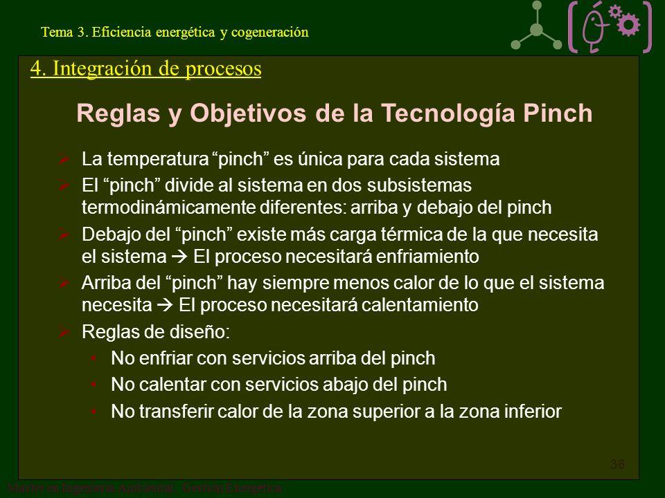 Reglas y Objetivos de la Tecnología Pinch