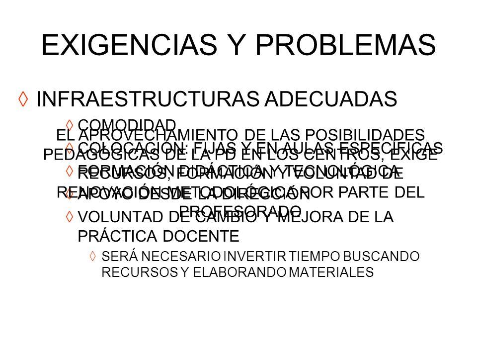 EXIGENCIAS Y PROBLEMAS