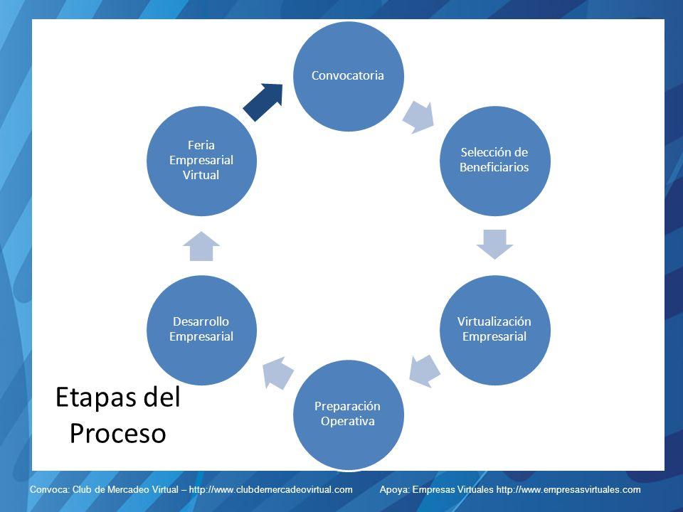 Etapas del Proceso Convocatoria Selección de Beneficiarios