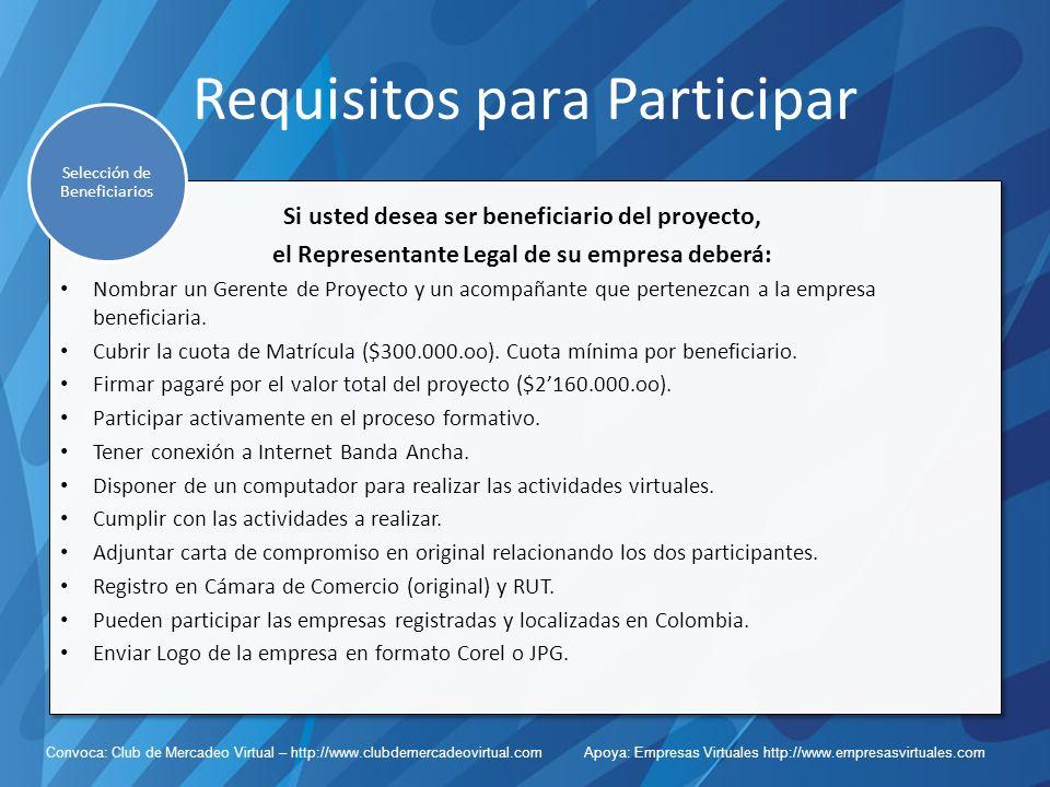 Requisitos para Participar