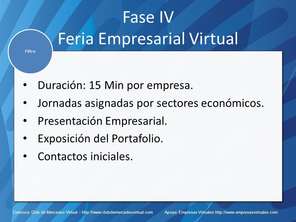 Fase IV Feria Empresarial Virtual