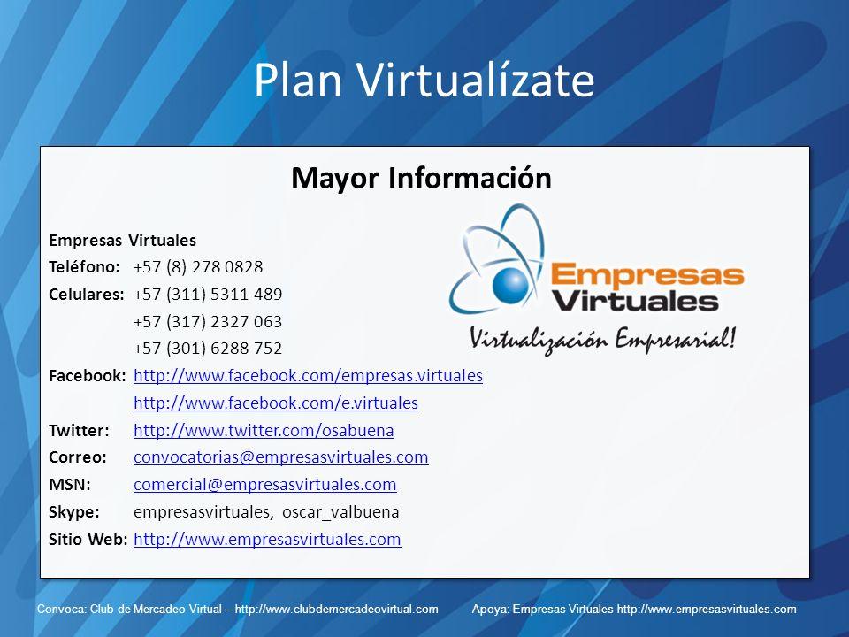 Plan Virtualízate Mayor Información Empresas Virtuales