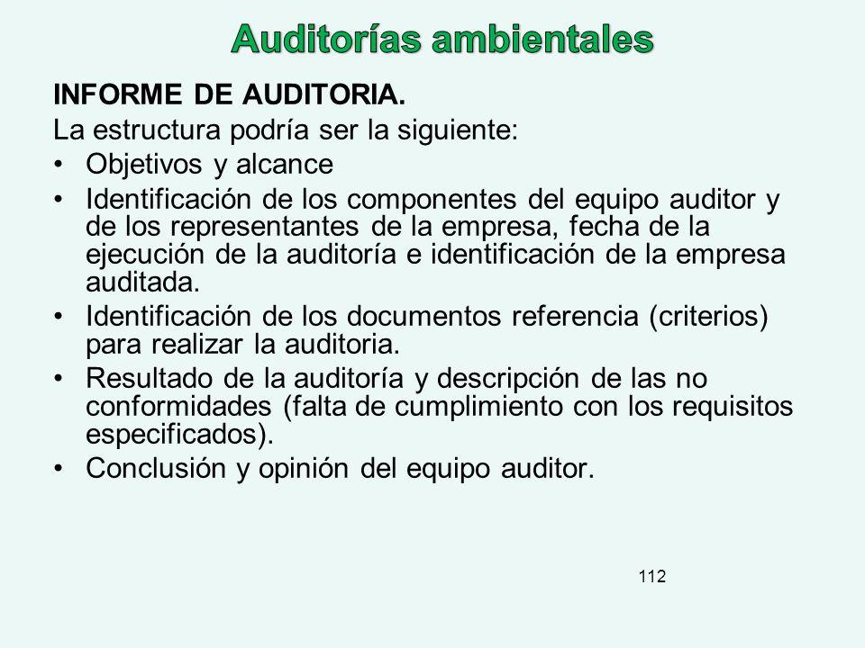 Auditorías ambientales