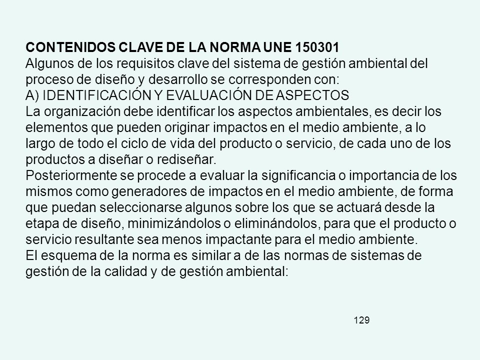 CONTENIDOS CLAVE DE LA NORMA UNE 150301