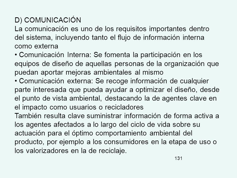 D) COMUNICACIÓN