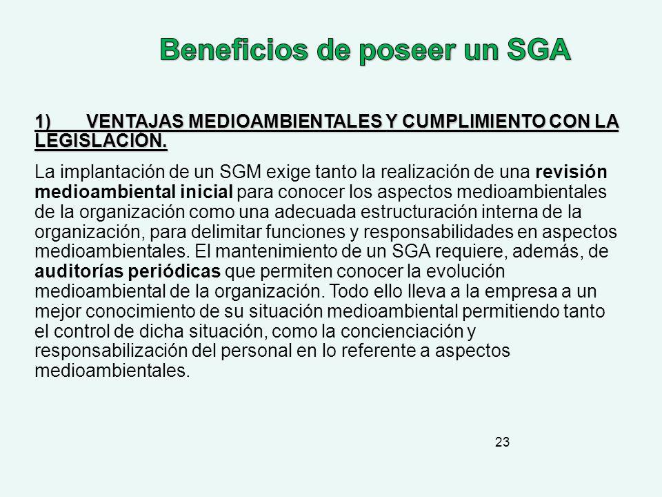 Beneficios de poseer un SGA