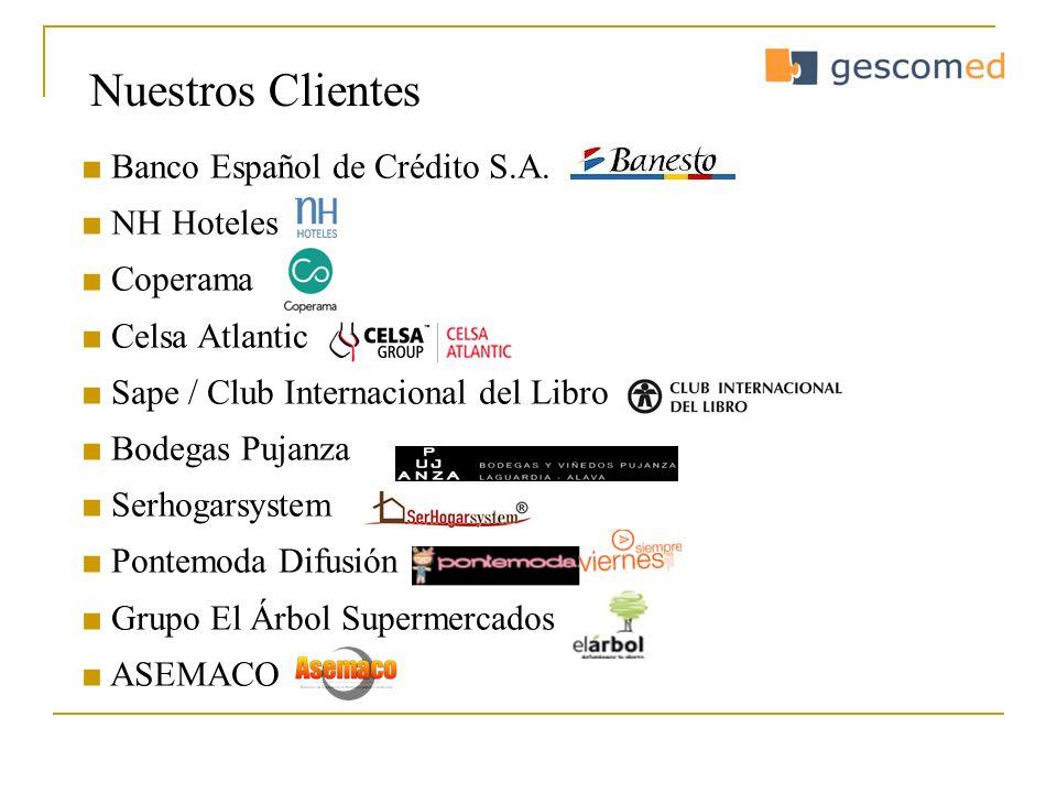 Nuestros Clientes ■ Banco Español de Crédito S.A. ■ NH Hoteles