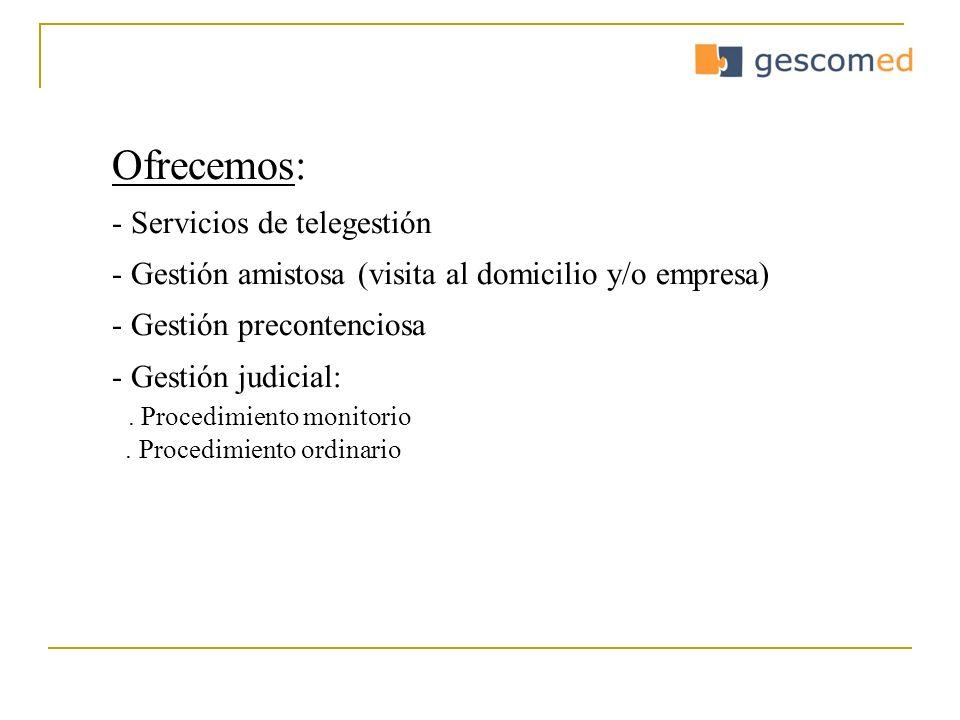 Ofrecemos: Servicios de telegestión