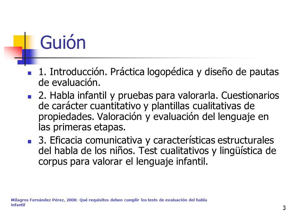 Guión 1. Introducción. Práctica logopédica y diseño de pautas de evaluación.