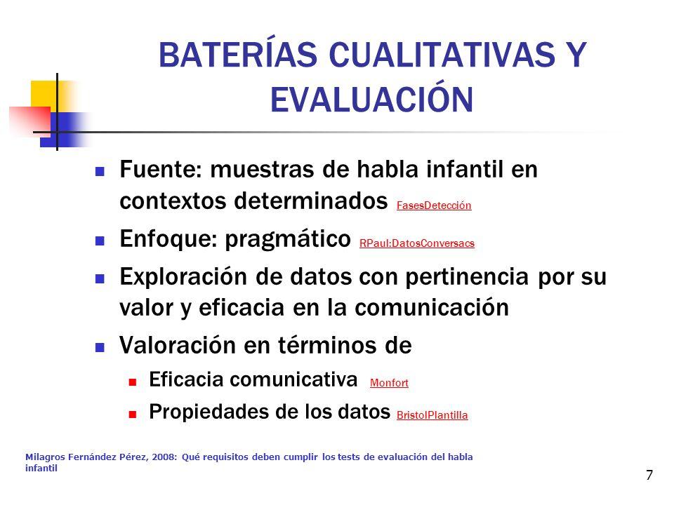 BATERÍAS CUALITATIVAS Y EVALUACIÓN