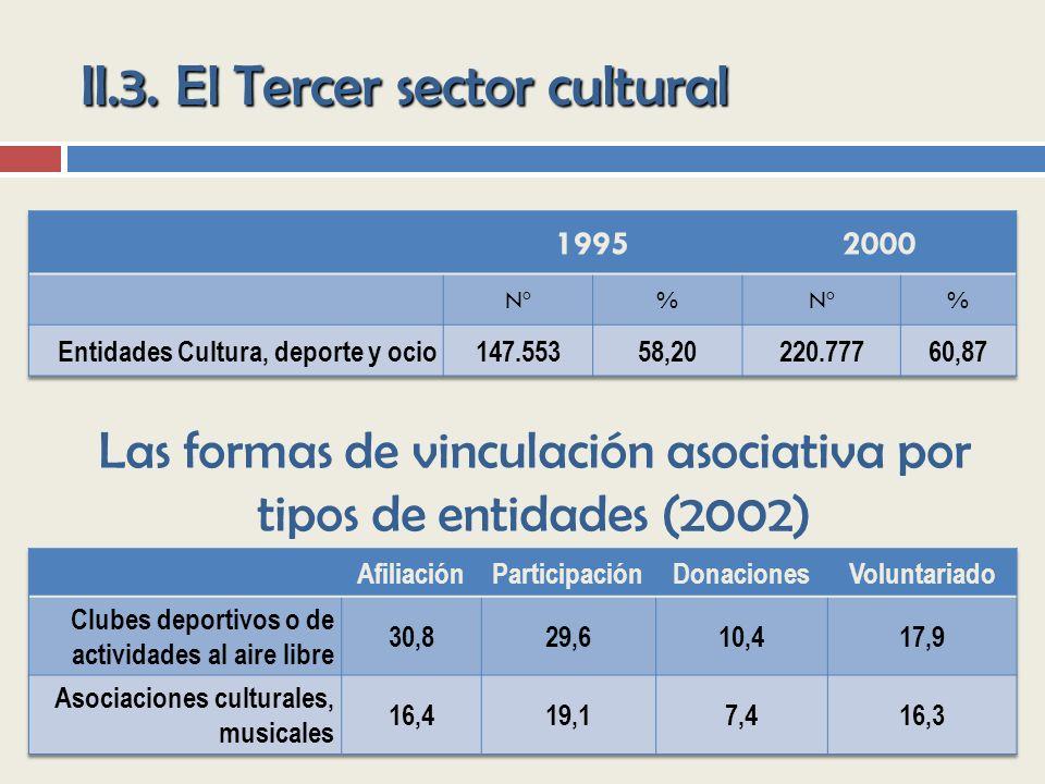 II.3. El Tercer sector cultural