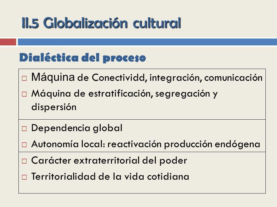 II.5 Globalización cultural