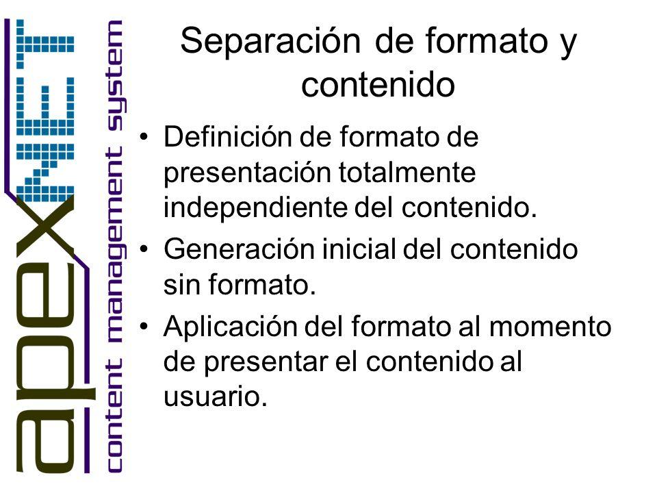 Separación de formato y contenido