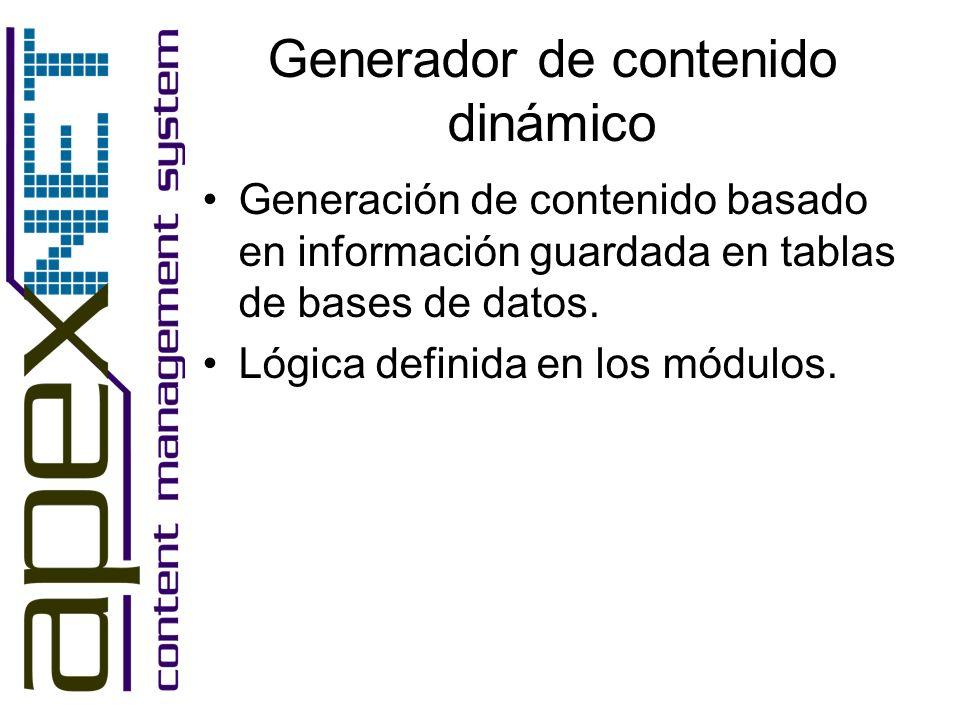 Generador de contenido dinámico