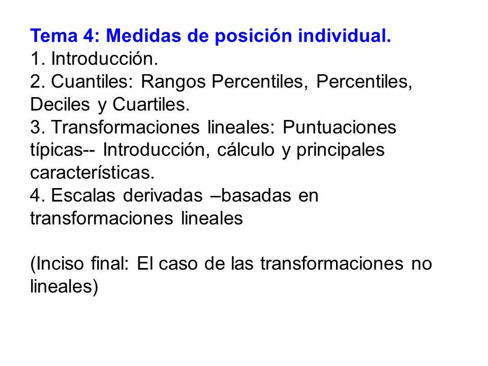 Tema 4: Medidas de posición individual.