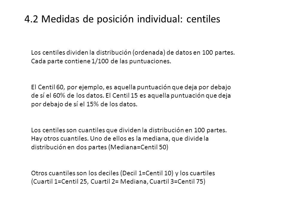 4.2 Medidas de posición individual: centiles